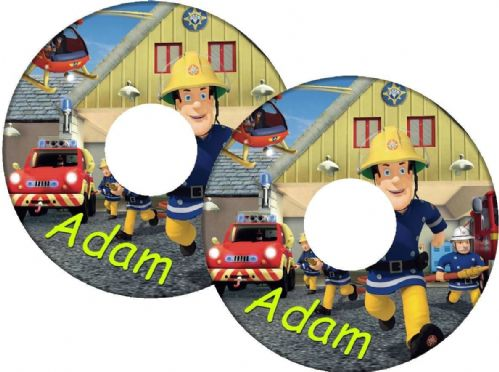 FIREMAN SAM Wheelchair Spoke Guard Sticker Skins